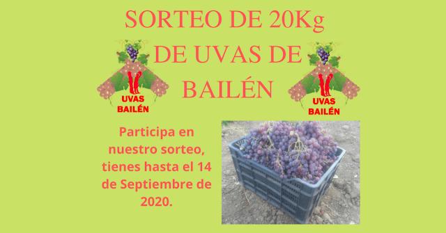 Sorteo 20Kg de uvas